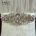 I Bay U Sparkly Diamond Belt Pearl Rhinestones Bridal Sash Rhinestone Bridal Belt For Wedding Dress Abendkleider Mit Steinen