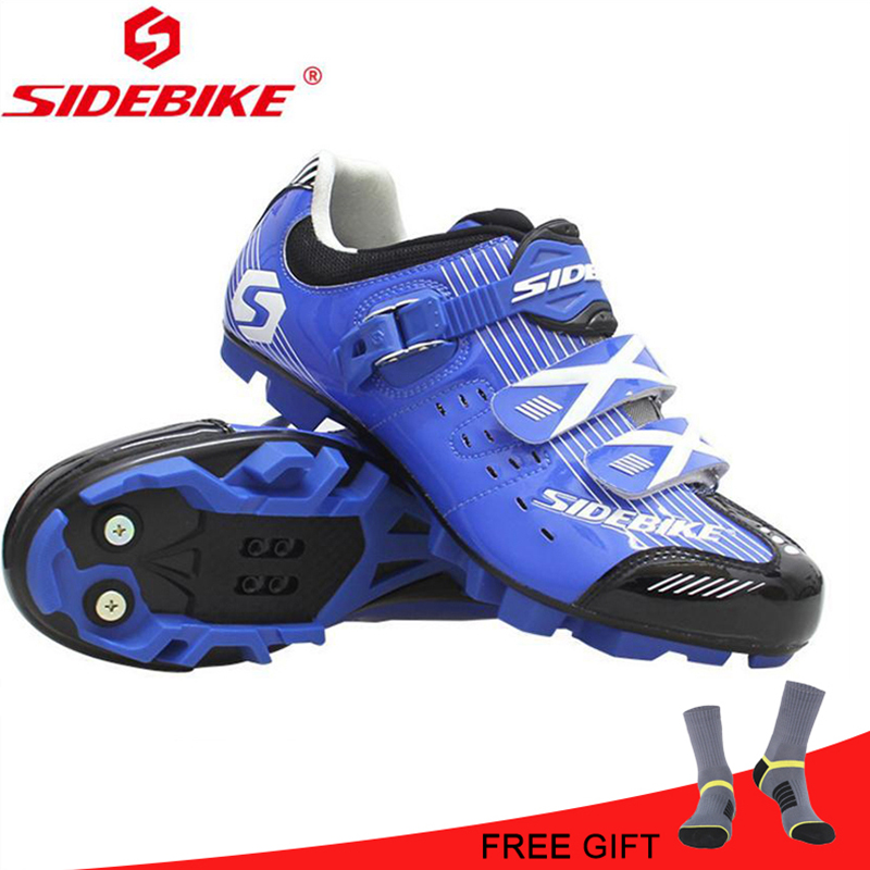 SIDEBIKE MTB Cycling Shoes Reflective Blue Yellow Red White Riding Bicycle Mountain Shoes Cycle Sneakers Sapatilha