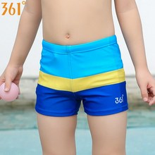 купить 361 Children Swimsuit 3-12 Years Boys Swimwear Boxer Swimming Trunks for Boys Kids Swimming Shorts Bathing Suit Patchwork Nylon дешево