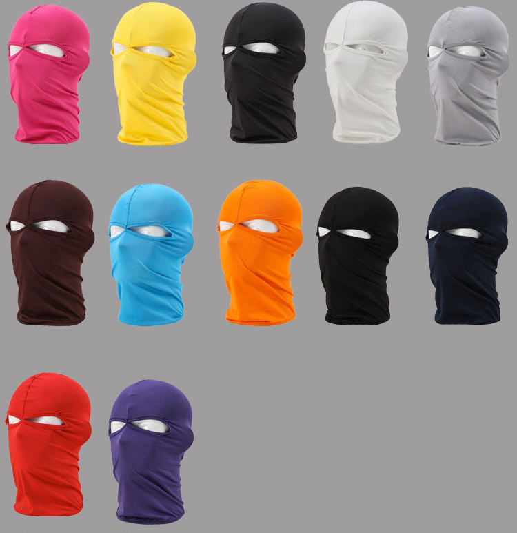 New Cap Beanie Men Black 2 Hole Full Motorcycle Cycling Masks Ski Outdoor Balaclava Face Mask Cover Hat Head Hood Sun Wind Dust