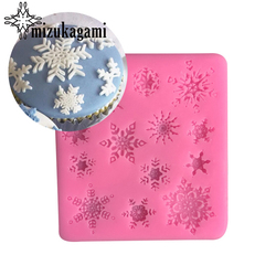 1pcs UV Resin Jewelry Liquid Silicone Mold Christmas Snowflake Charms Molds For DIY Intersperse Decorate Making Jewelry