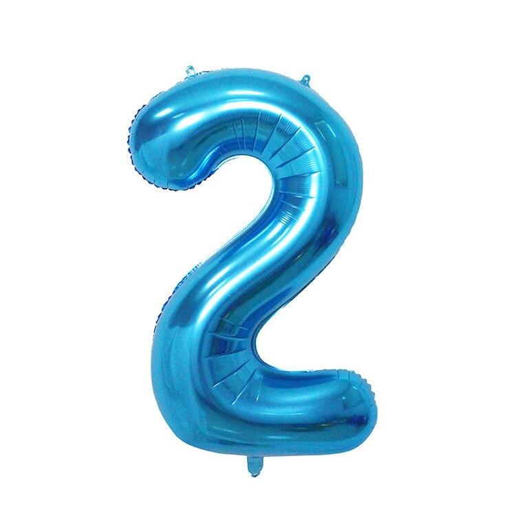 32 дюйма розовый синий 40 дюймов красный фольгированный шар большой гелиевый номер 0-9 Globo день рождения для детей Вечеринка мультфильм шляпа Декор - Цвет: blue 2