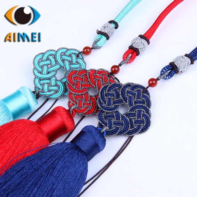 Chinese knot pieces beaded tassel polyester DIY jewelry materials car pendant musical instrument process decoration