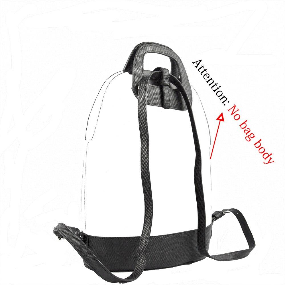 Image 4 - New D Buckle Oblong Handle Slim PU Leather Strap for O Bag 50  Belt Bottom Backpack Kit Combination Set for Obag 50Bag Parts