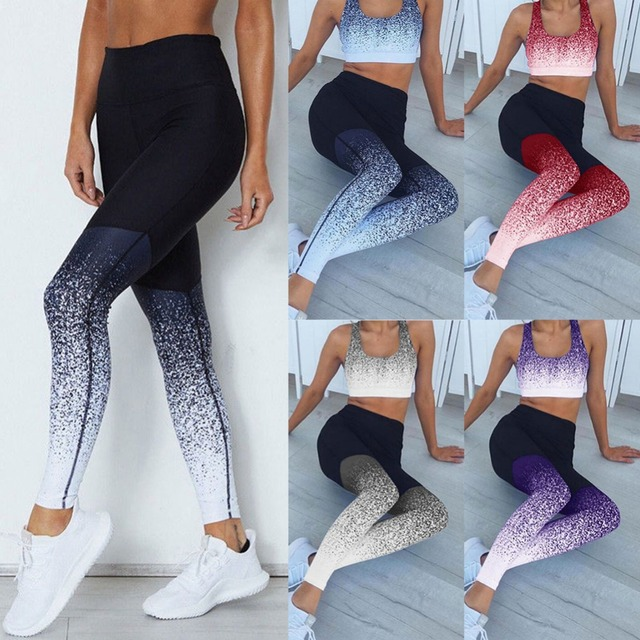 2019 Hot Women Yoga Pants Compression Tights Female Slim Sports Clothing Sport Pants Seamless Leggings Fitness Running Tights 1