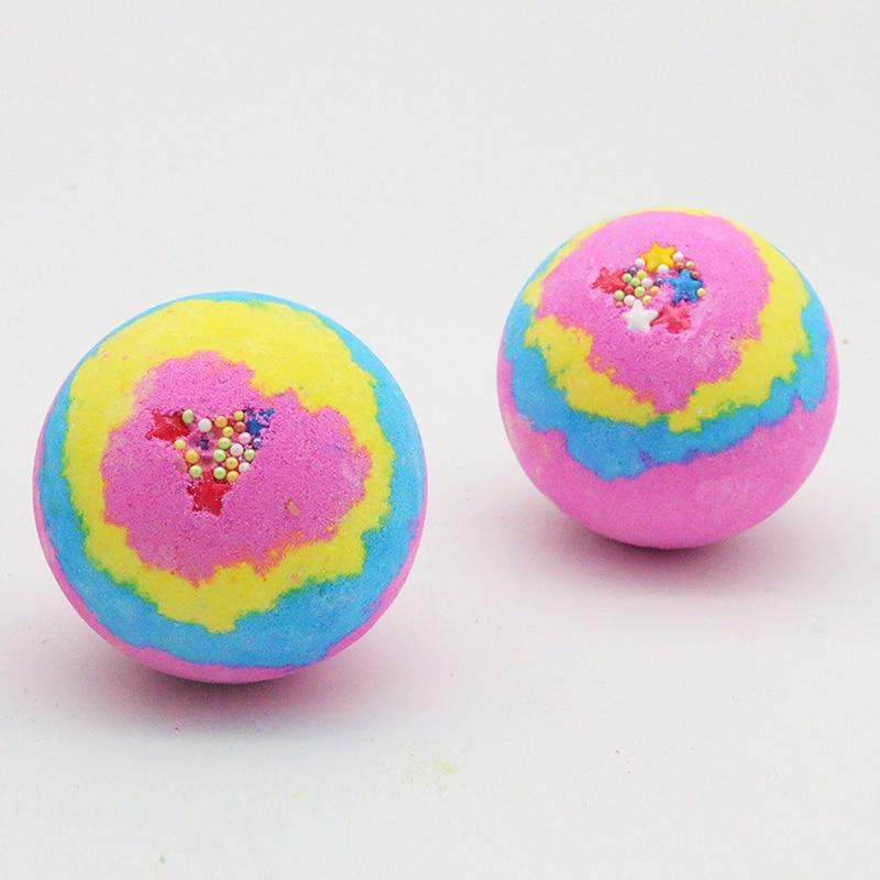 1pcs Deep Sea Bath Salt Body Essential Oil Bath Ball Natural Bubble Bombs Ball Flavors To Choose Drop Ship