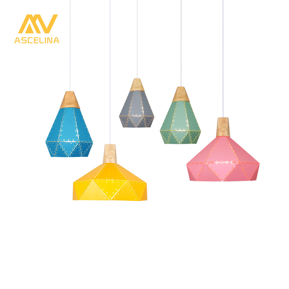 Modern Pendant Ceiling Lamps LED pendant Light Nordic hanging lamp Christmas decorations home lighting wood lamp for living room nordic modern 10 arm pendant light creative led hanging lamps tube rod toolery for living room dining room lamp home decoration