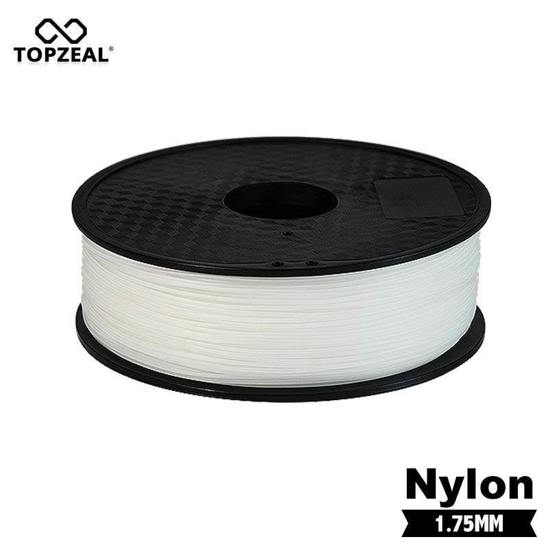 TOPZEAL PA Nylon Filament 1 75mm 1KG for 3D Printer Plastics Filament White Black Transparen Color PA Filament Printing Material