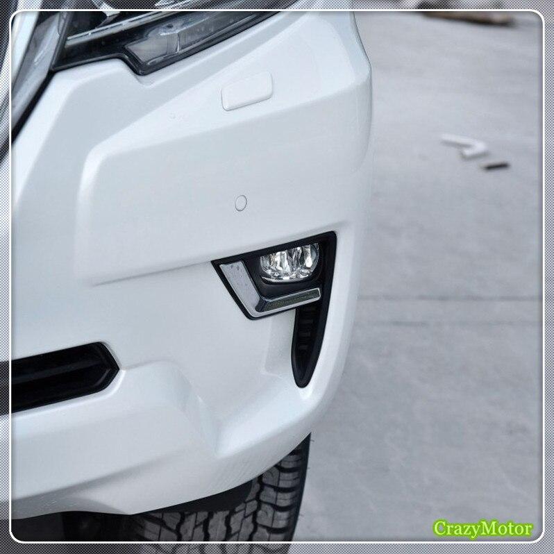 ABS автомобилей передние противотуманные лампа для Toyota Prado FJ150 2018 внешний изменение авто аксессуары Cat укладки 1 комплект