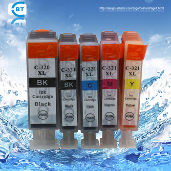 5 color 1set compatible bci-320 bci-321 ink cartridge for canon iP3600/iP4600 printer image