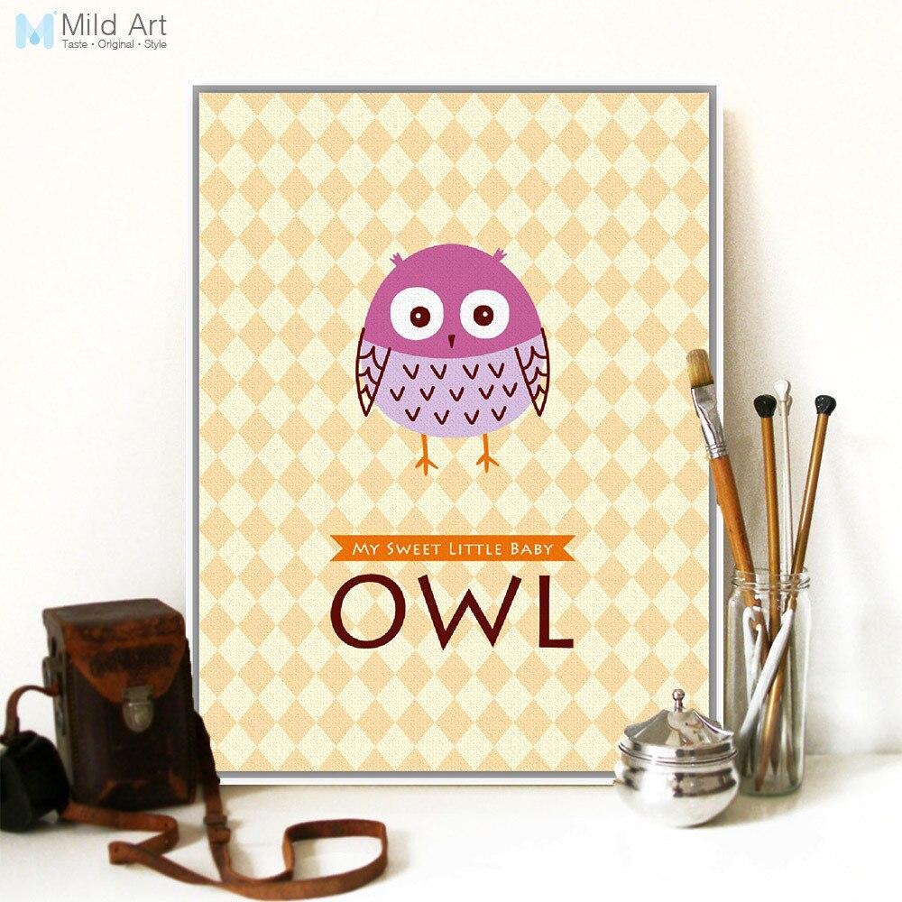 Modern Kawaii Animal Owl Typography Quotes Art Print Poster Nursery ...