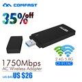 COMFAST 2.4 Г/5.8 Г двойной частота 802.11ac USB Wi-Fi АДАПТЕР 1750 Мбит сетевой карты CF-917AC 11AC USB3.0 4*4 MIMO Архитектуры