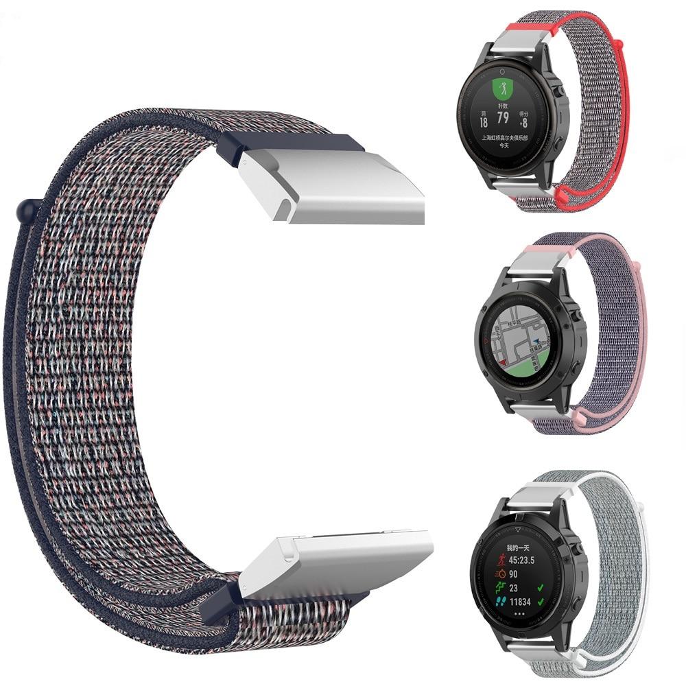 20 22 26mm Nylon Watch Band Easy Quick Fit Strap For Garmin Fenix 5X Plus Fenix 3 3HR Descent MK1 Fenix 5 Plus Motion Strap