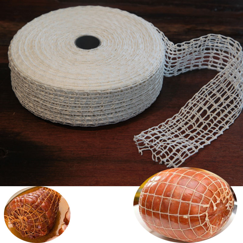 3 Meter Cotton Meat Net Ham Sausage Net Butcher's String Sausage Net Roll Hot Dog Net Sausage Packaging Tools Wholesale