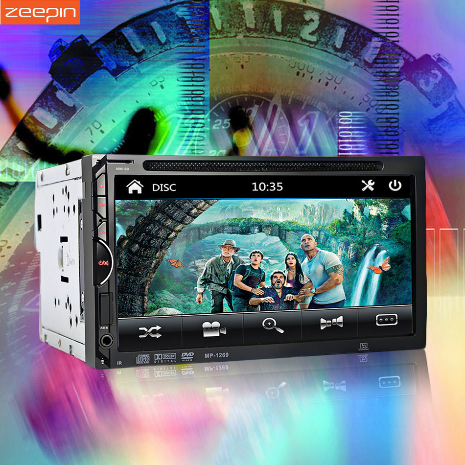 2 Din Car DVD Player 7'' Touch Screen Bluetooth USB Aux Stereo Radio Car Audio Auto Car Radio Player Support Rear View Camera 7 inch touch screen 2 din car multimedia radio bluetooth mp4 mp5 video usb sd mp3 auto player autoradio with rear view camera