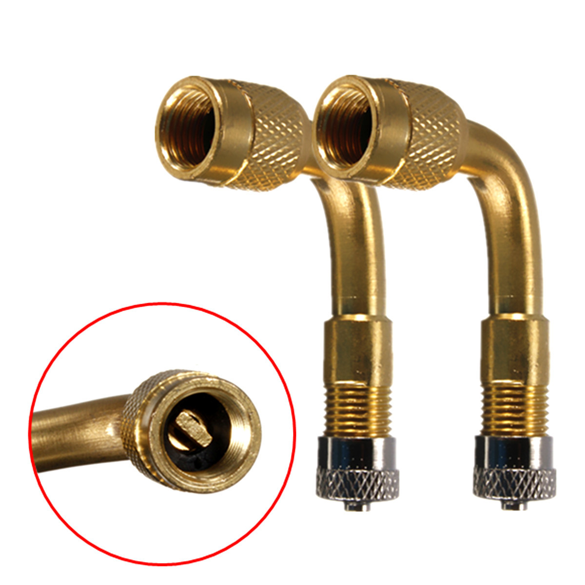 1 Pcs Air Tyre Valve Tire Valve Stem Extenders Extension Adapter 90 Degree Angle Brass For Car Truck Motorcycle