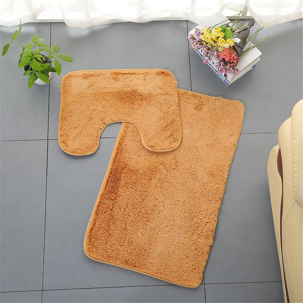 PV Fleece Toilet Mats Bathroom Rug Kit Toilet Bath Non-slip Mats Floor Carpet Set Mattress For Bathroom Decor allure home creations ogi geo bath rug