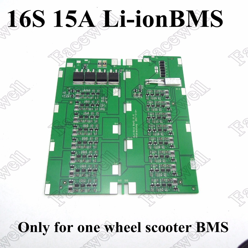 1pc Bms 16s 15a Discharge Current 8a Charge Lithium Li Ion 18650 7 2v 4v Battery Protection Circuit Module Pcm C D 2 Batteries Board For One Wheel Scooter Free Shipping In Accessories From