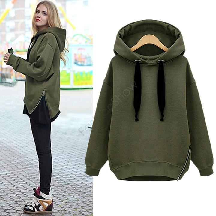 Hot Selling Women Fashion Side Zipper Hoody Sweatershirt Ladies Spring  Winter Casual Hoodie With hood 29|hoodie couple|hoodie clothinghoodie com -  AliExpress