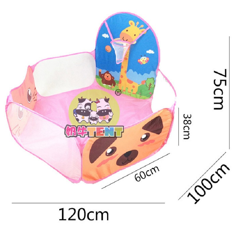 Купить с кэшбэком Portable Baby Playpen Children Outdoor Indoor Ball Pool Play Tent Kids Safe Foldable Playpens Game Pool of Balls for Kids Gifts
