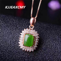 KJJEAXCMY boutique jewelry Natural and Tian Biyu pendant, 925 silver jewelry wholesale, female natural Hetian jade necklace