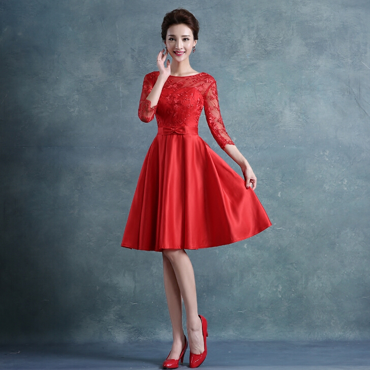 Pretty lace red 16 dresses