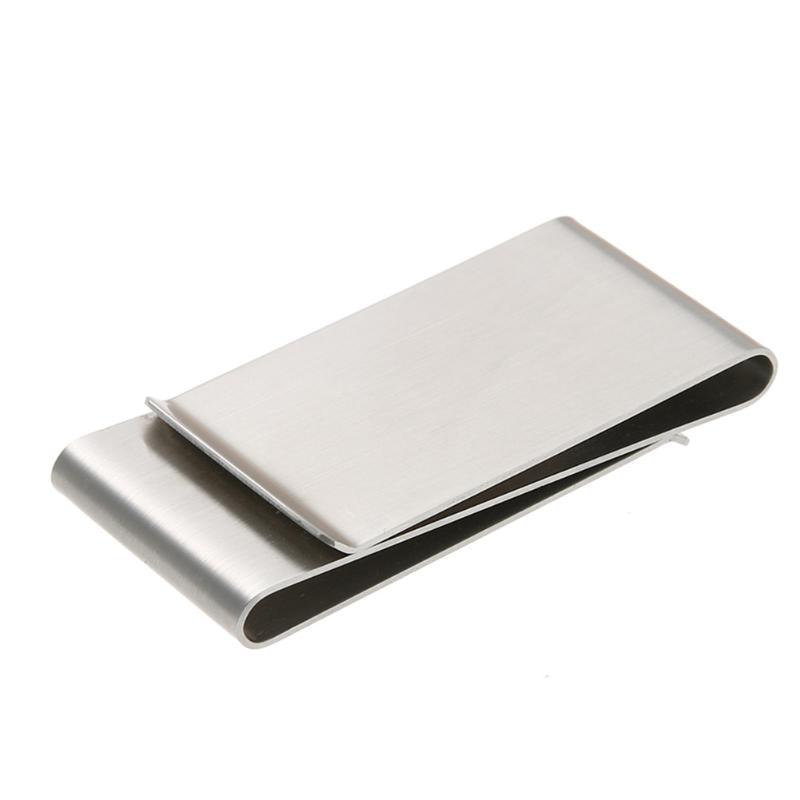 100% QualitäT Edelstahl Metall 3 Ordner Doppel Brieftasche Karte Halter