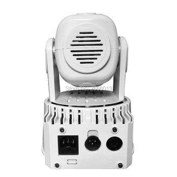 8 ชิ้น LED สีขาว 7x12 วัตต์ Mini Moving Head Light, DMX ผลแสงเวที, disco DJ ปาร์ตี้ไนท์คลับบาร์ KTV LED Moving ล้างไฟ