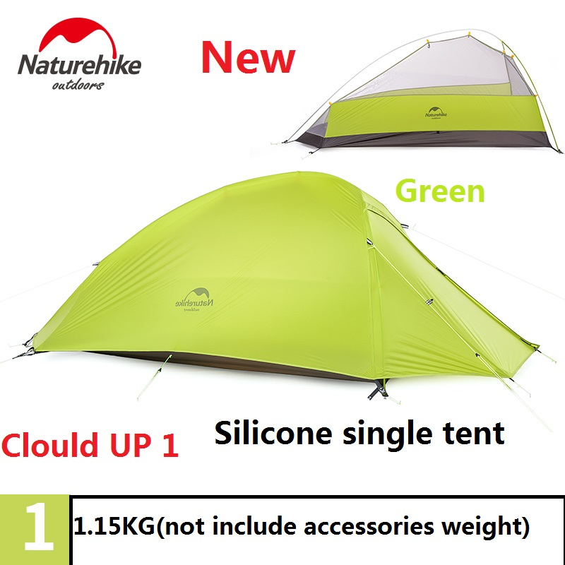 Naturehike factory 4 seasons Outdoor Portable Double layer Camping Tent Camouflage for 1 Person Lightweight Waterproof