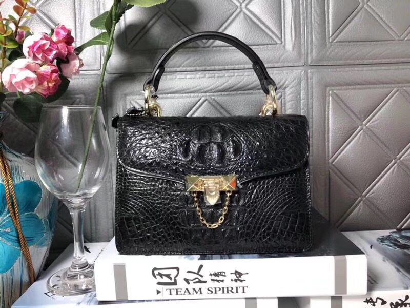 купить Luxury Designer Genuine Crocodile Skin Lady Small Summer Purse Real Alligator Leather Women's Messenger Bag Female Mini Handbag по цене 27362.23 рублей