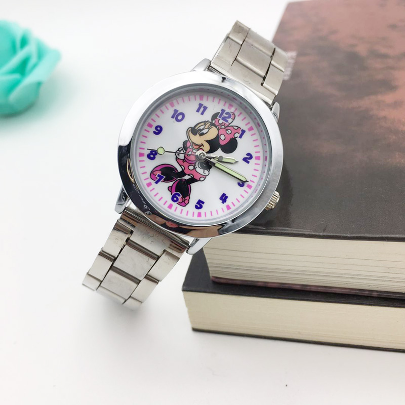 Fashion Minnie Cartoon Mouse Watch Woman Casual Women Quartz Watches Stainless Steel Ladies Wristwatch Student Girls Clock giftsFashion Minnie Cartoon Mouse Watch Woman Casual Women Quartz Watches Stainless Steel Ladies Wristwatch Student Girls Clock gifts