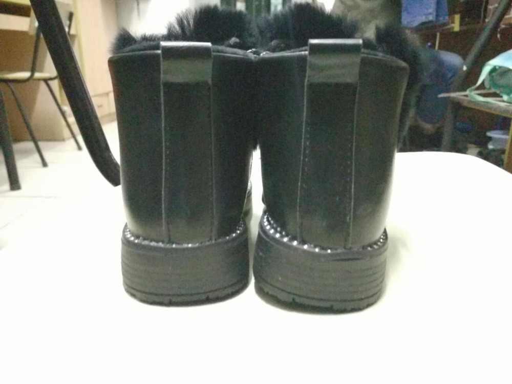 f52aba83c728 Детские короткие сапоги для девочек, детские меховые резиновые сапоги с  бантом, ...
