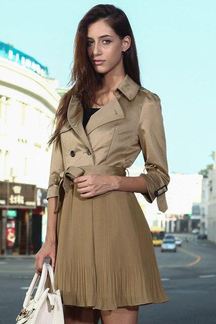 Новое Прибытие Мода Британский Стиль Пэчворк Плиссе Леди Пальто Платье LC85005 Дешевой Цене + Бесплатная Доставка + Быстрая доставка Vestidos