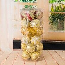 24pcs 6cm christmas balls plastic set new year decorations christmas ball ornaments tree adornos de navidad para casa #F#40AT13