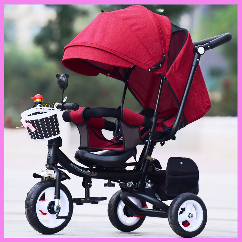 Can Sit Lie Baby Stroller 3 In 1 Portable Baby Tricycle Bike Baby Carriage 3 Wheels Reverse Handle Children Bicycle Trike Buggy new child tricycle 3 wheels baby stroller bike ride on cars kids bicycle prams and pushchairs baby stroller 3 in 1