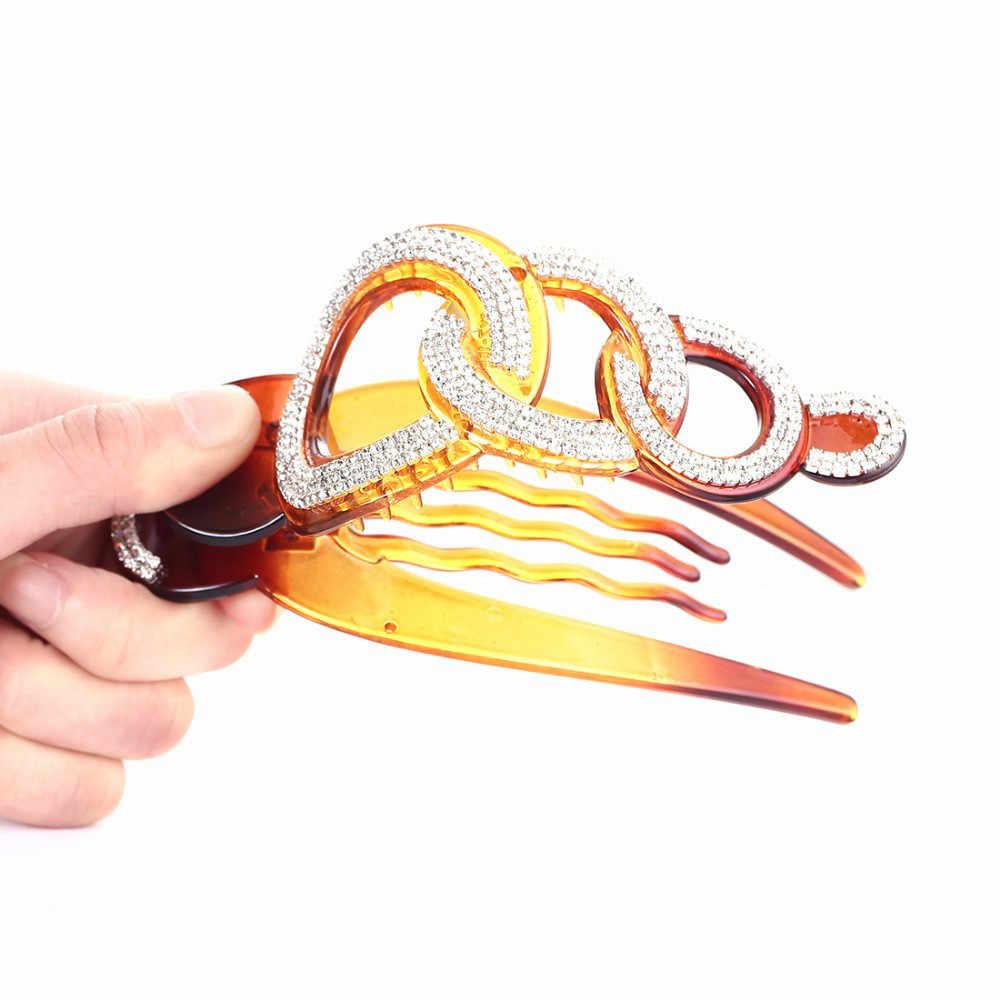 1PC Donne Strass grande clip di capelli Strumenti Per Lo Styling Accessori Copricapi Tornante Granchi Pinza tagliatore di capelli Della Decorazione professionale