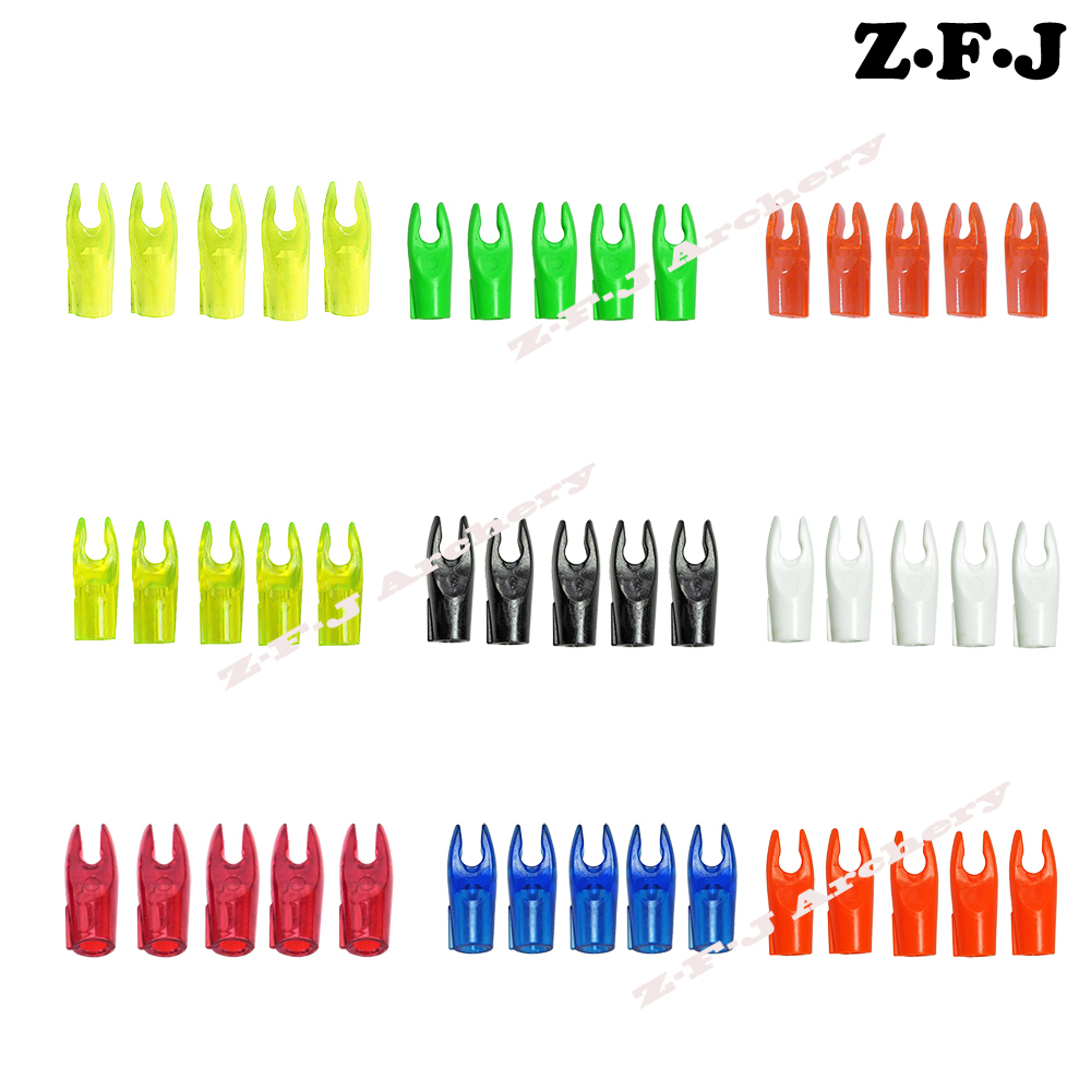 12Pcs Archery Plastic Arrow Replace Pin Nock Bow Hunting Outdoor Archery Accessories Compound  Recurve Bow Crossbow Hunting