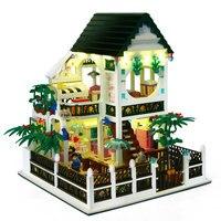 Город Вид сцена модель улица строительные блоки игрушки игровая комната конфеты магазин архитектурные кубики дети для игрушки девочка иг