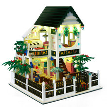 City View Scene Street Model Building Block Toys Gaming Room Candy shop Architecture Bricks Children for toy Girl toy цены