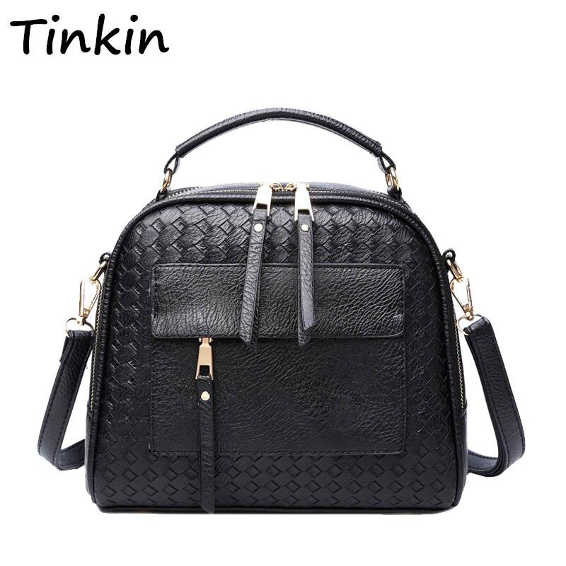 INLEELA 2016 New Arrival Knitting Women Handbag Fashion Weave Shoulder Bag Small Casual Cross Body Bag