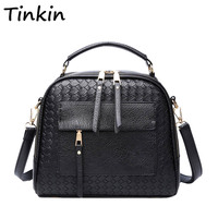 INLEELA 2016 New Arrival Knitting Women Handbag Fashion Weave Shoulder Bag Small Casual Cross Body Bag