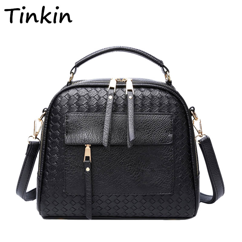 Фото Tinkin New Arrival Knitting Women Handbag Fashion Weave Shoulder Bags Small Casual Female CrossBody Bag Retro Tote