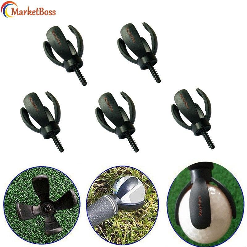5pcs/Pack Durable Golf Ball Retriever 4-Prong Black Pick Up Tool Golf Putter Sucker Training Aids