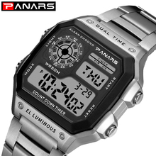 PANARS Sports Mens Retro Watches Waterproof Count Down Timer