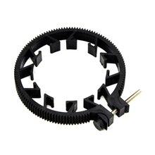OOTDTY ABS plastik ayarlanabilir dişli takip odak kemer 65 ~ 75mm DSLR Lens Mod 0.8
