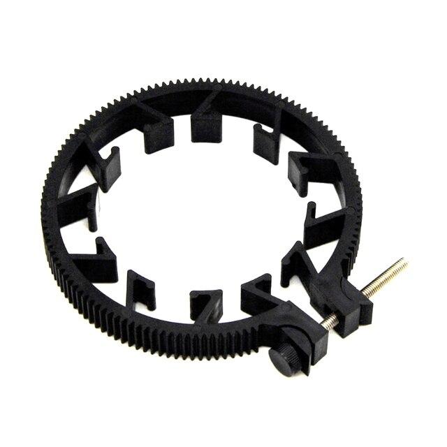 Ootdty abs plástico ajustável anel de engrenagem para follow focus belt 65 75 75mm para lente dslr mod 0.8