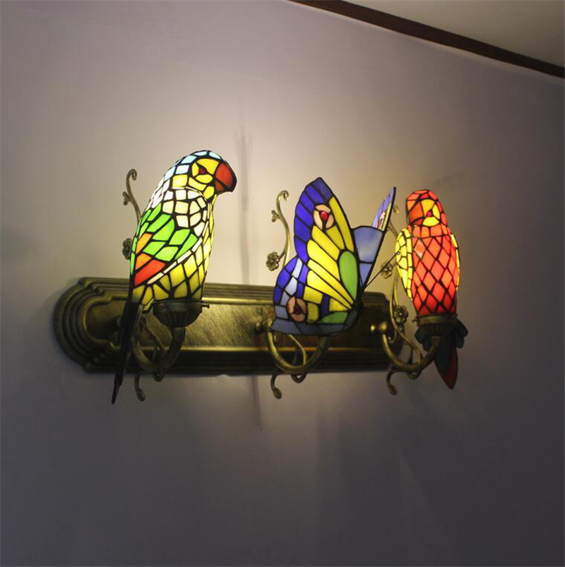 Fumat borboleta lâmpada de parede feito à