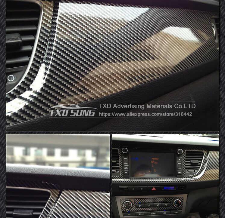 Высококачественная Глянцевая 2D виниловая пленка из углеродного волокна Автомобильная оберточная виниловая пленка автомобильная наклейка 2D золотистое углеродное волокно наклейка