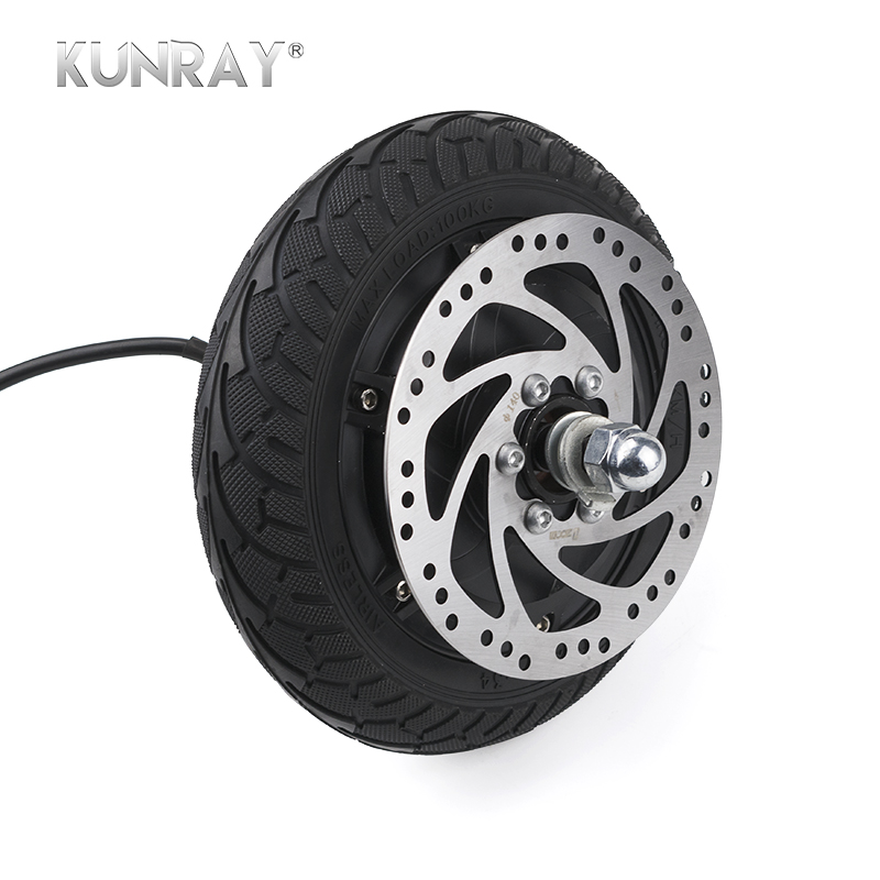 8inch Electric Scooter Brushless Hub Wheel Motor 350W 24V 36V 48V Non-Gear For E-Bike Drift Car Airless Tire 140 Disc Brake Part drift tire front 10spoke bk 24mm 2pcs