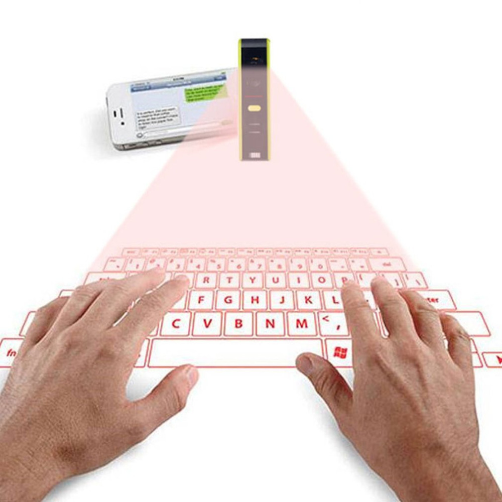 Novelty Wireless Bluetooth Laser Virtual Projection Keyboard Laser English QWERTY Keyboard Portable For Smart Phone Tablet PC